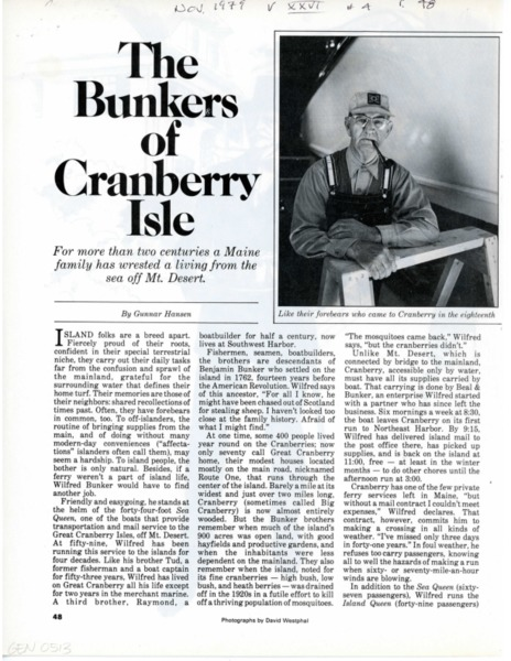 The Bunkers of Cranberry Island