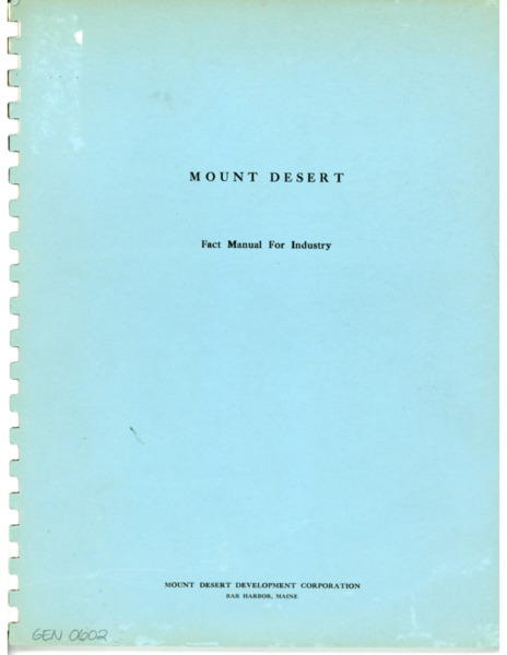 Fact Manual for Industry