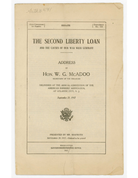 The Second Liberty Loan and the Causes of Our War