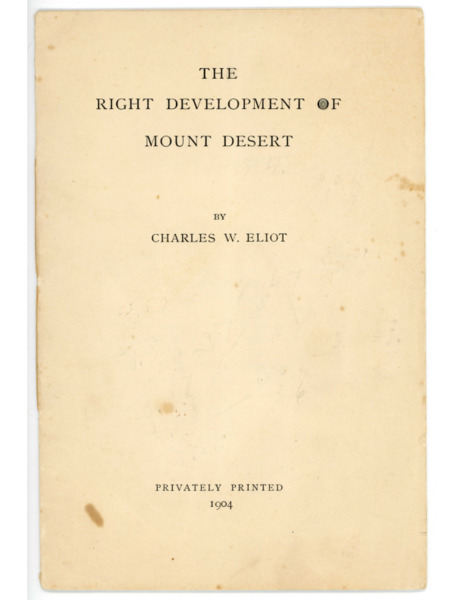 Right Development of Mount Desert