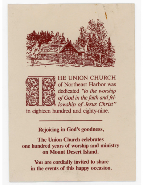 Centennial Worship Service of The Union Church