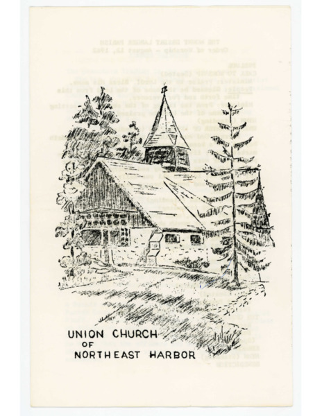 Programs from Union Church Services