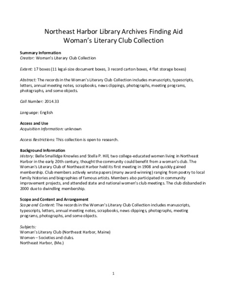 WLC Collection Finding Aid.pdf