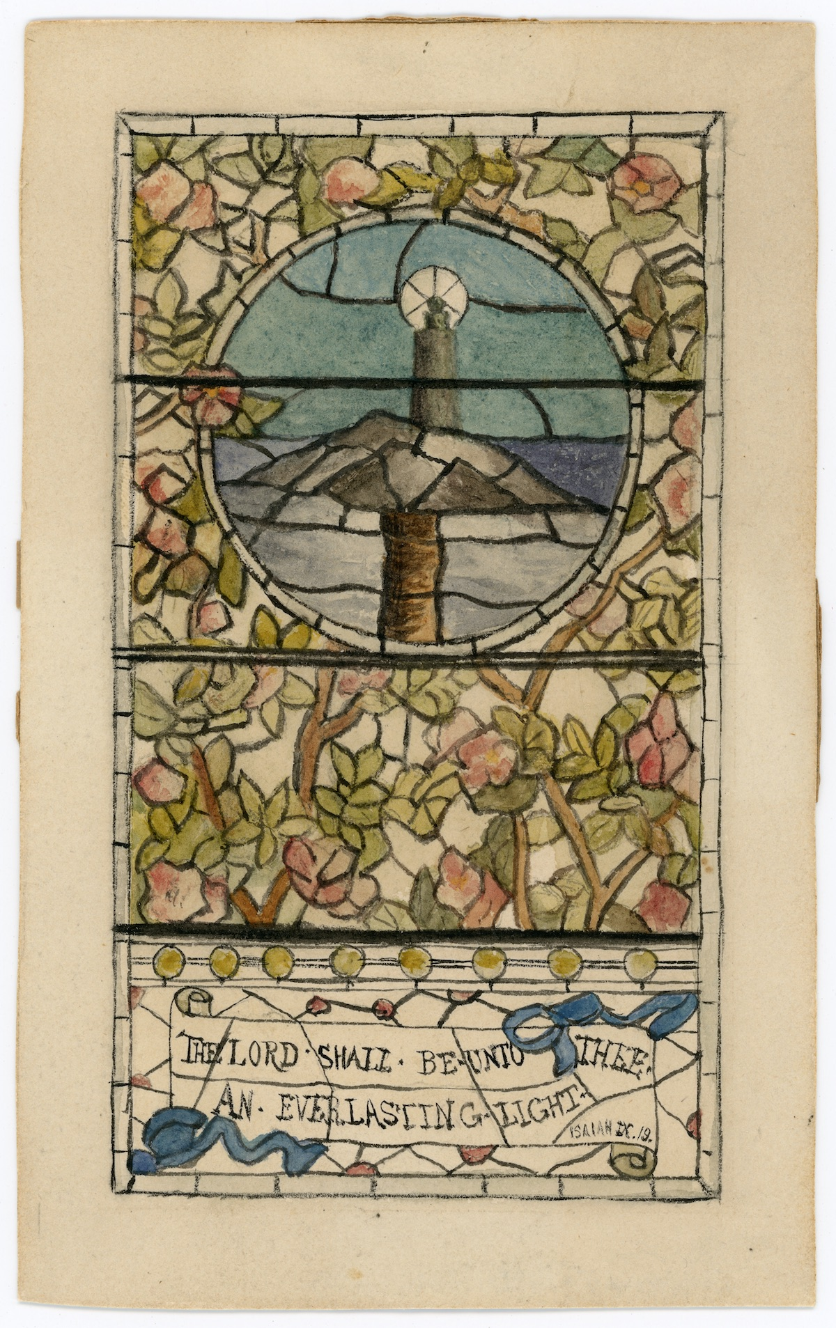 Original Christmas card painted by Daisy Doane.