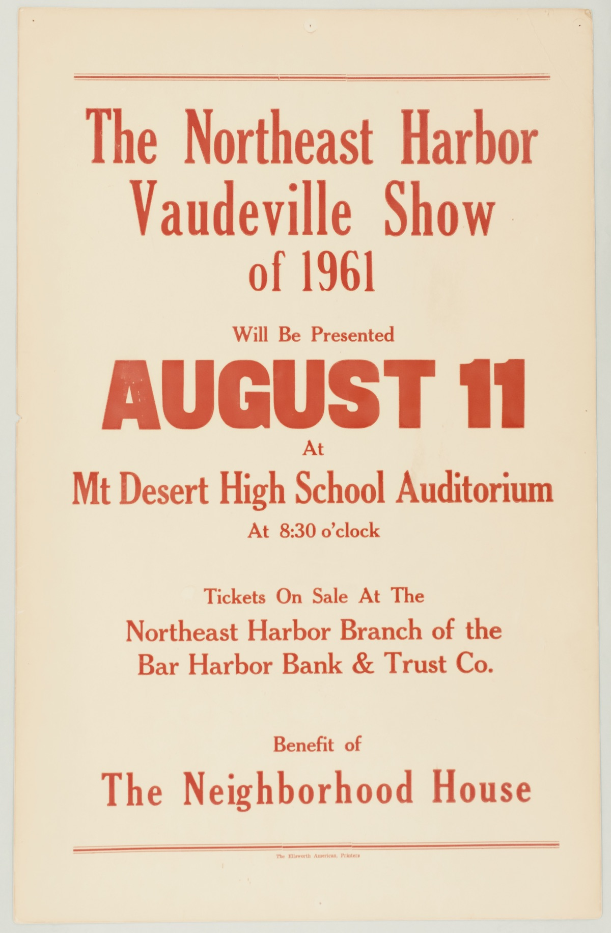 Northeast Harbor Vaudeville Show