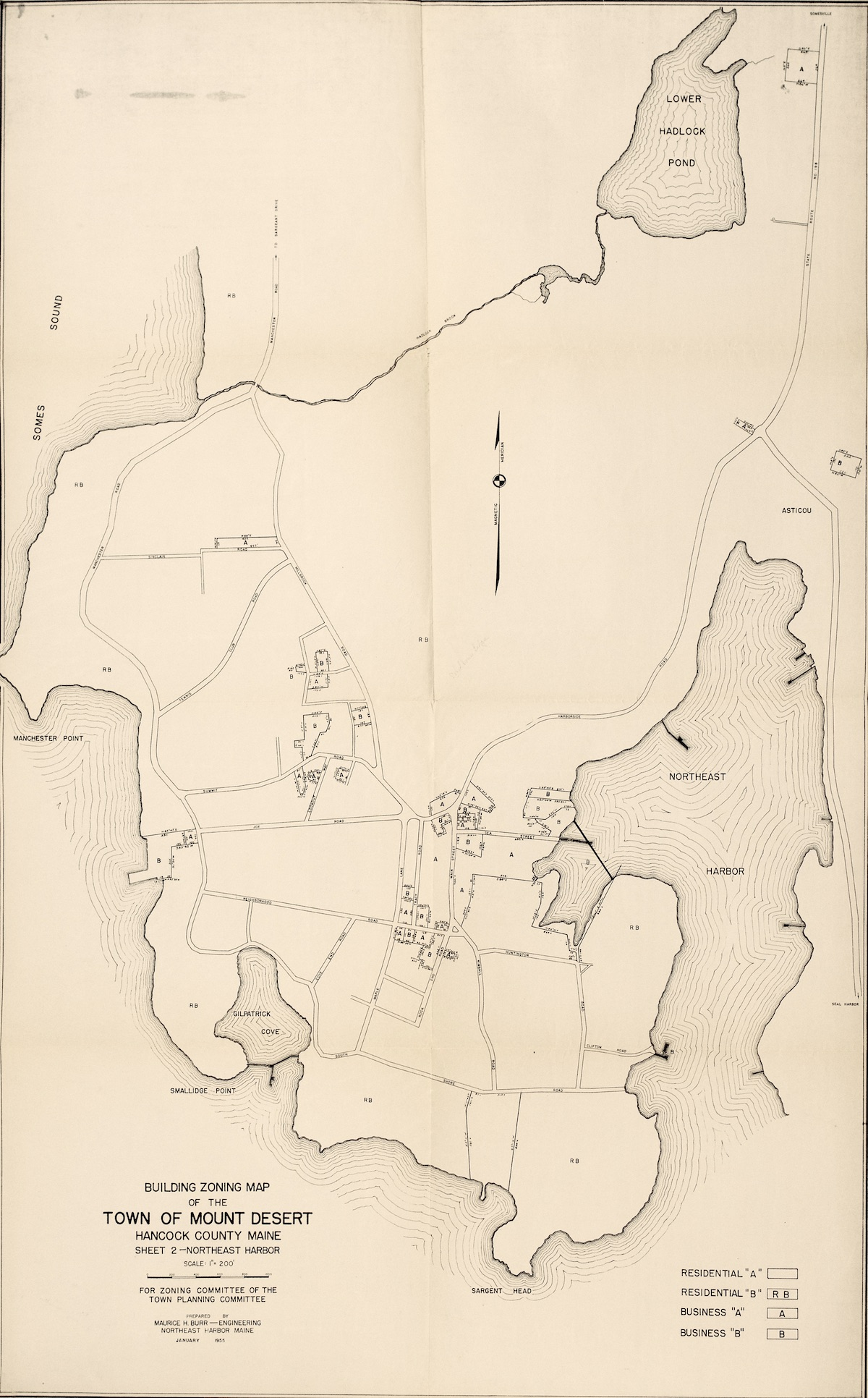 Building Zoning Map of the Town of Mount Desert