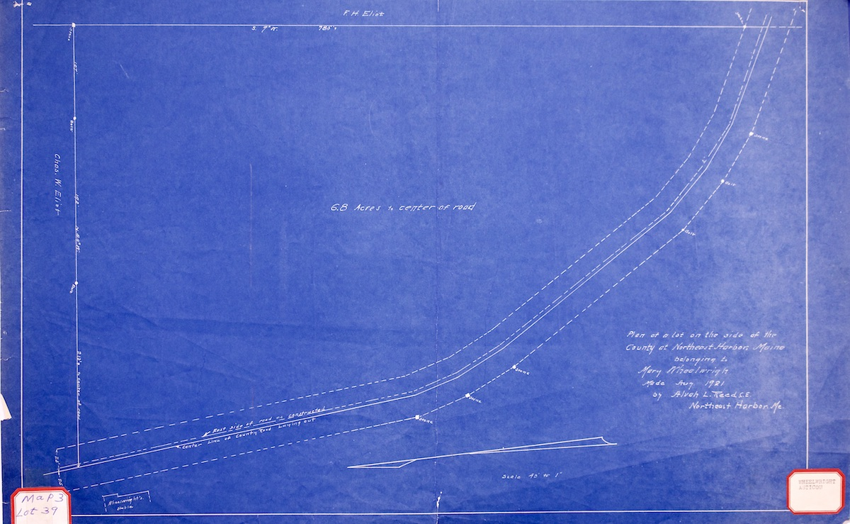 Plan of lot of Mary Wheelwright