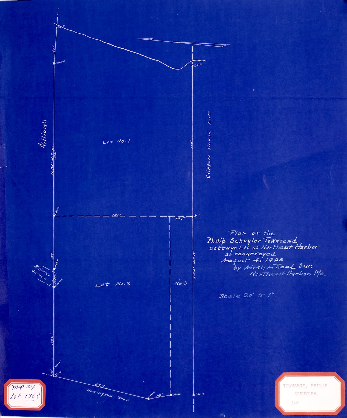 Plan of Philip Schuyler Townsend Lot