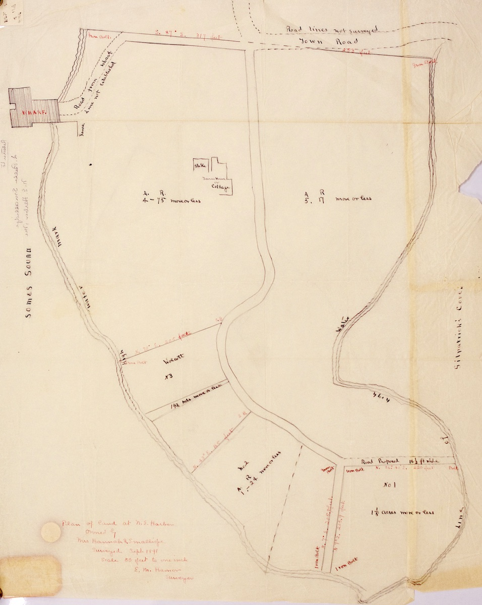 Plan of land of Hannah R. Smallidge