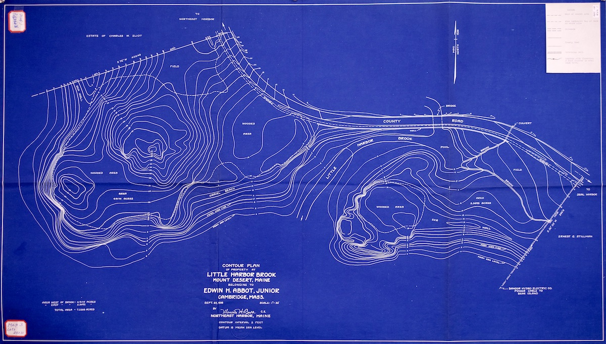 Contour Map of Abbot Property at Little Harbor Brook
