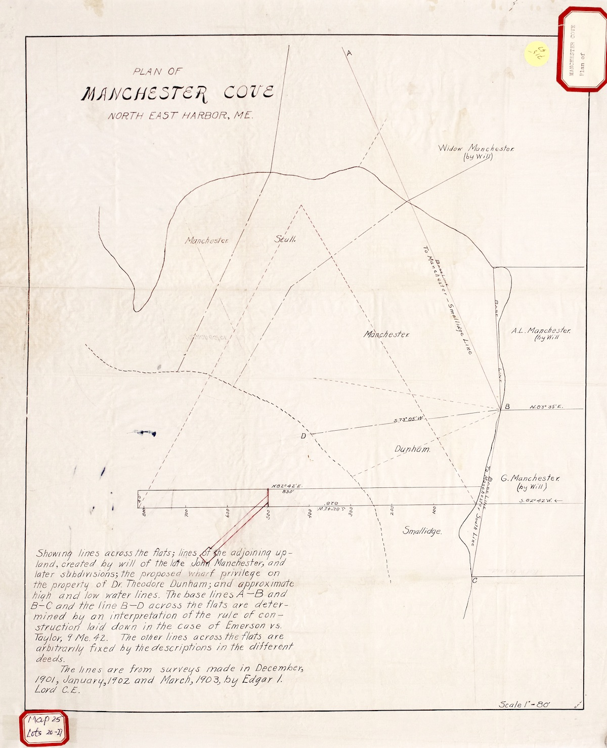 Plan of Manchester Cove