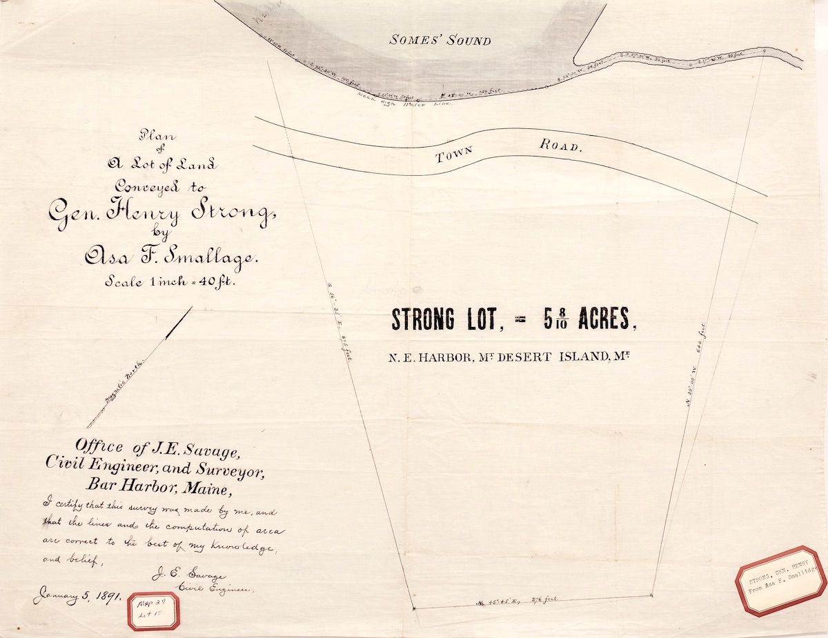 Land Conveyed to Henry Strong by Asa Smallidge