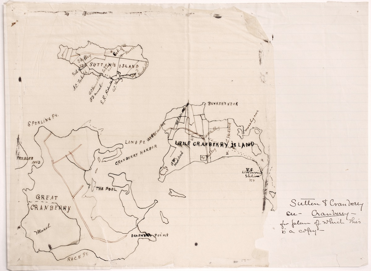 Map of Sutton and Cranberry Islands