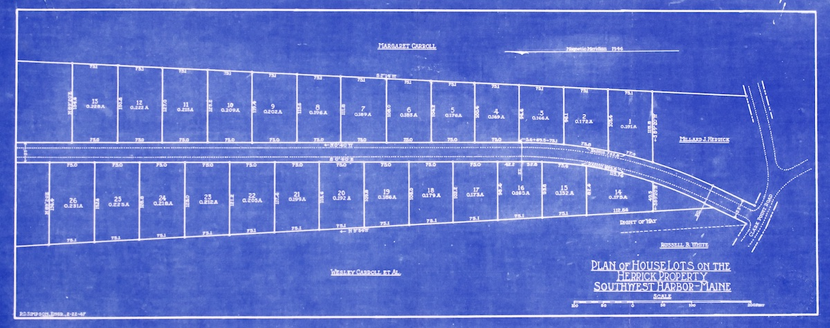 Plan of House Lots on the Herrick Property