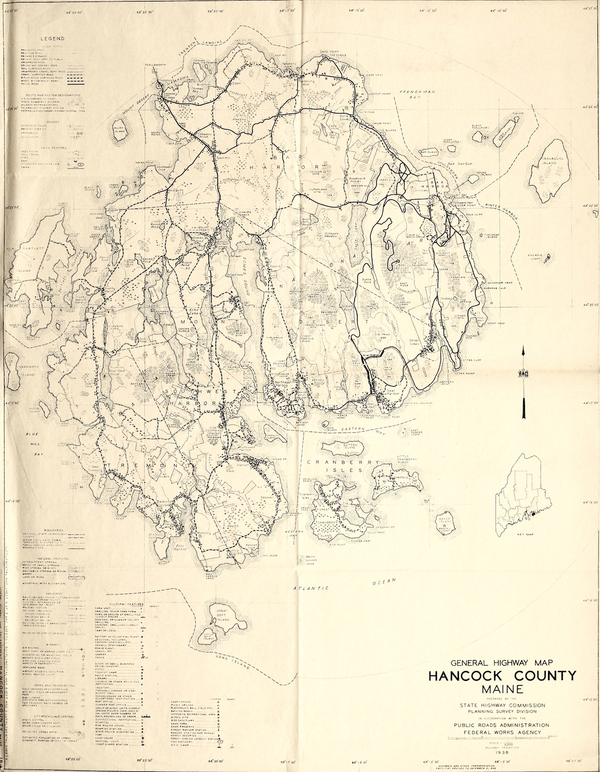 Highway Map of Hancock County