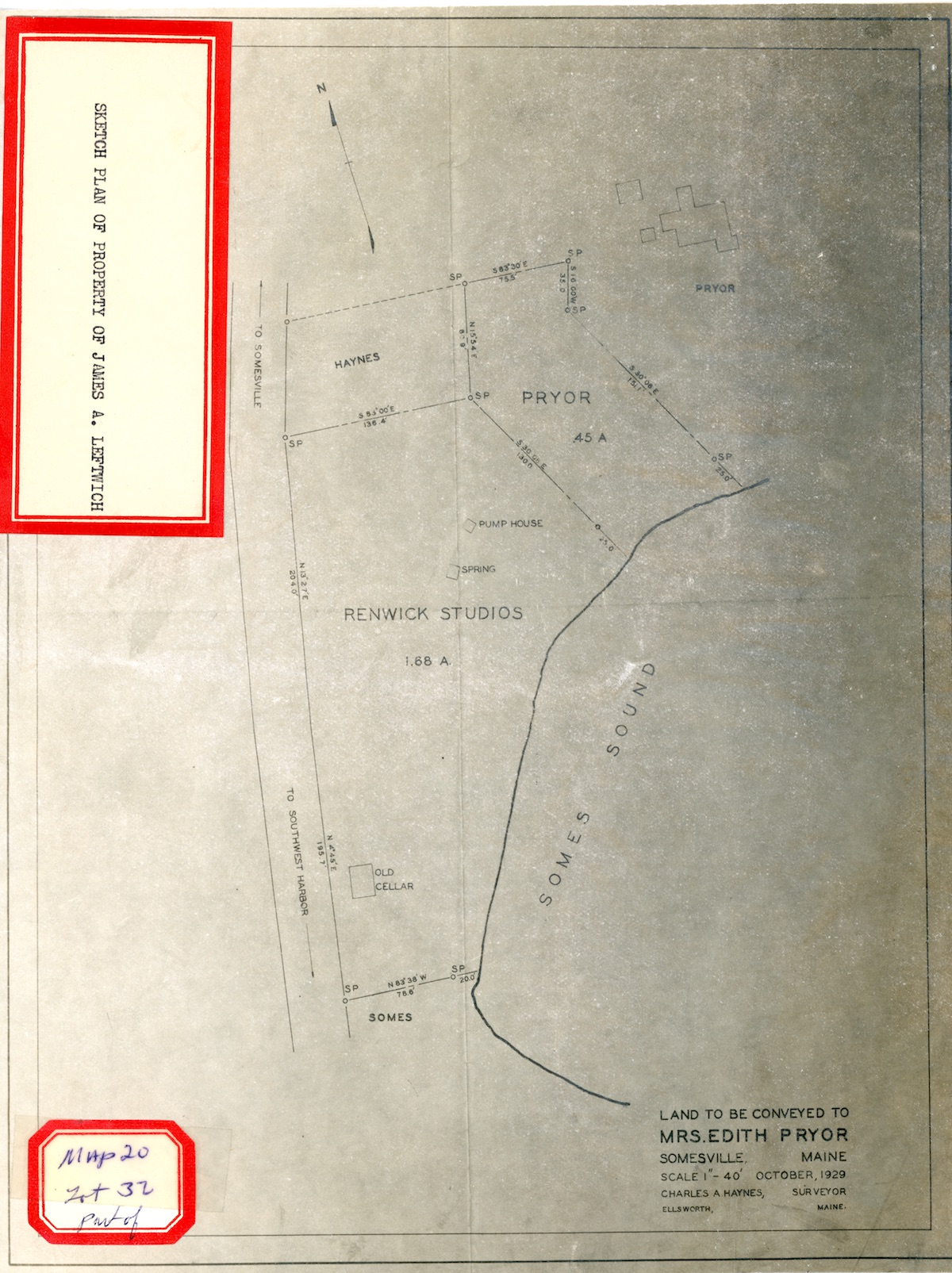 Sketch Plan of Property of James A. Leftwich