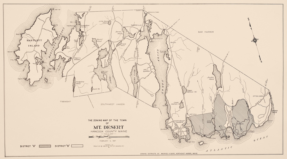 Zoning Map of the Town of Mount Desert
