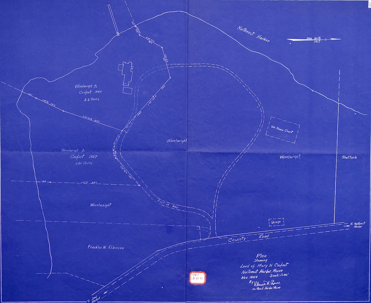 Plan showing land of Mary N. Crofoot
