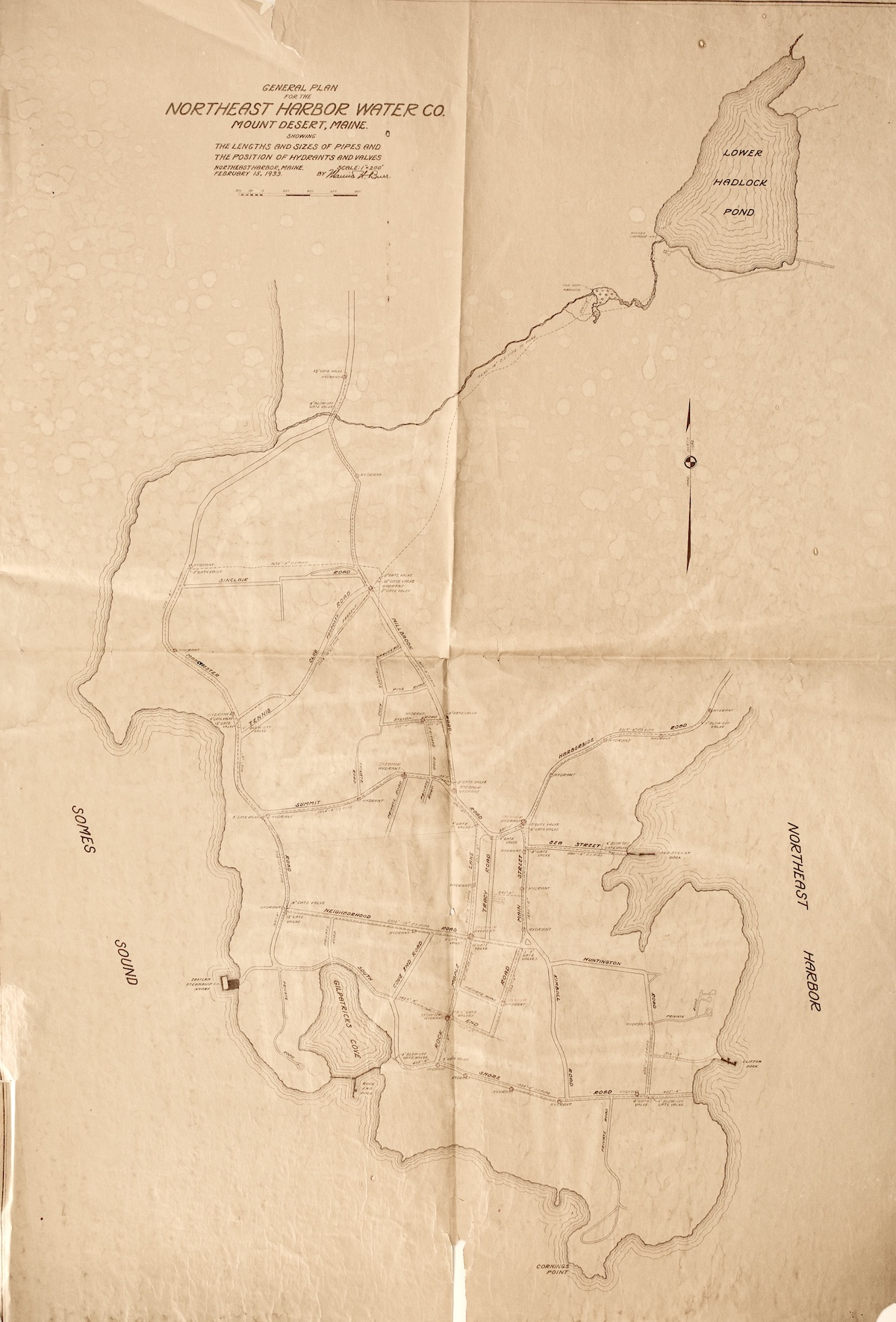 General Plan of the Northeast Harbor Water Co.
