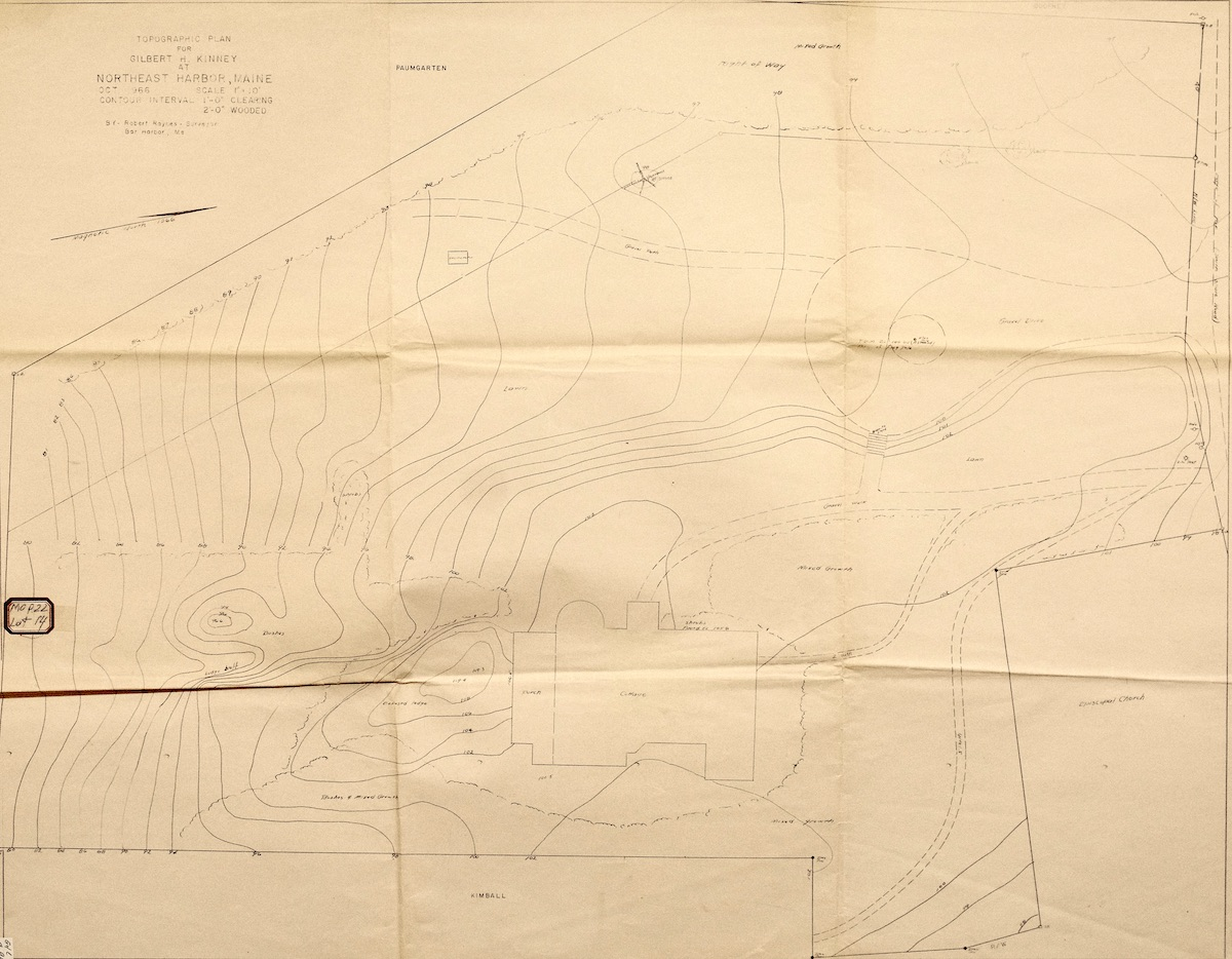 Topographic Plan for Gilbert Kinney