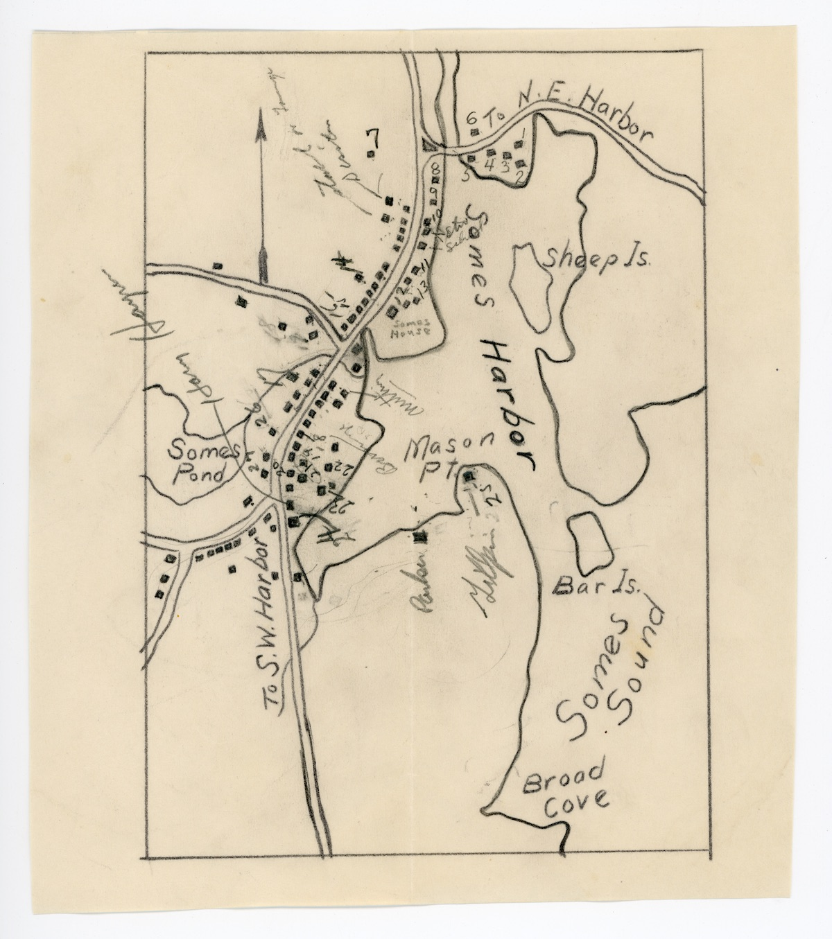 Sketch map of Somesville.