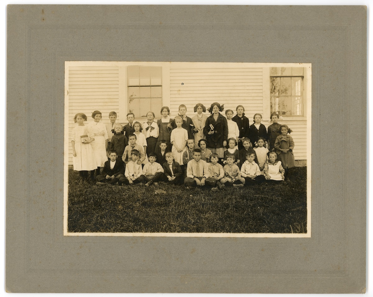 Children at Center School in Seal Cove