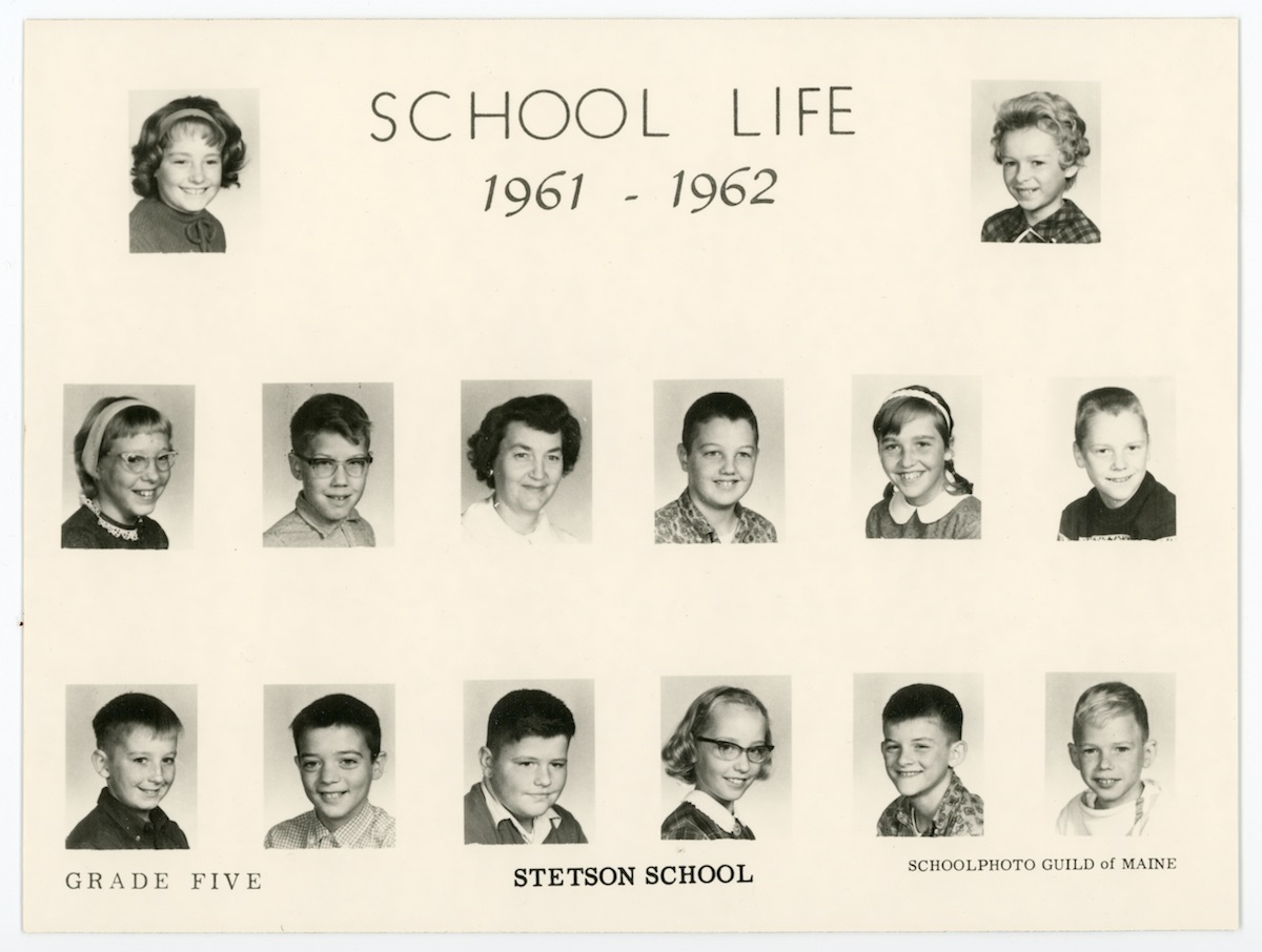 Stetson School Grade Five (5th Grade), 1961-62
