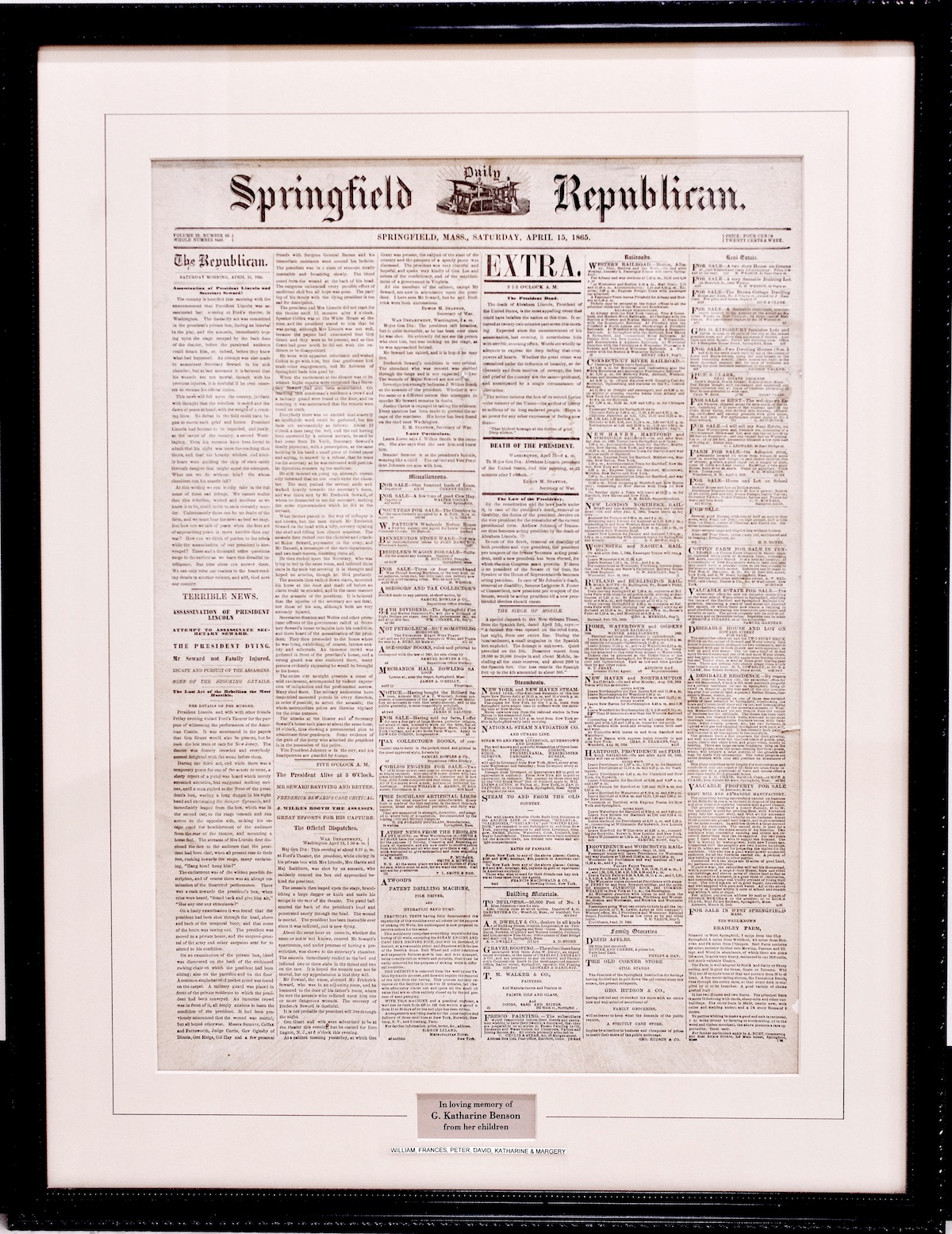 Springfield Daily Republican - April 15, 1865