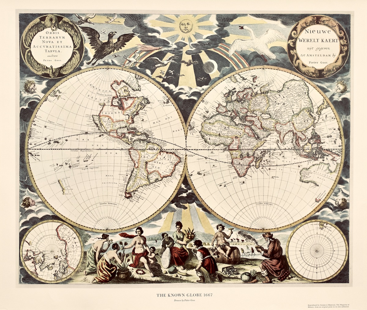 The Known Globe 1667